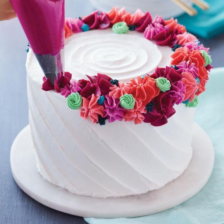 Как делается картинка на торте из крема часто