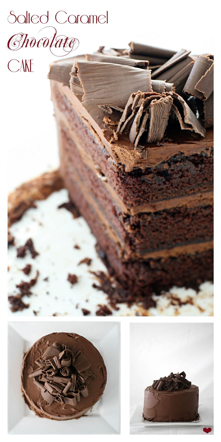 Baked Salted Caramel Chocolate Cake