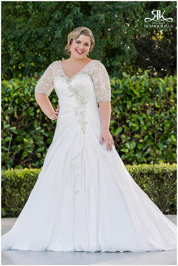 57 best curvy brides images on pinterest wedding for Wedding dresses for plus size brides