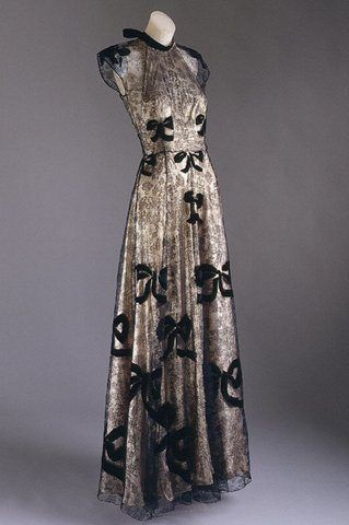 .Gown by Vionnet from the personal wardrobe of Countess Mona Von Bismarck