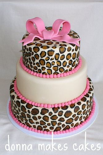 pink cheetah cake animal print baby shower ideas for megan