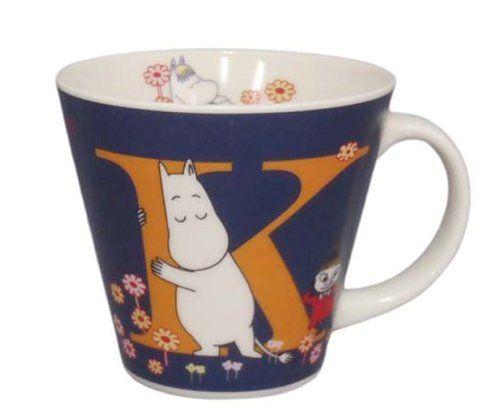 Moomin Valley Porcelain Initial Mug Cup 'K' Yamaka Japan Yamaka Japan