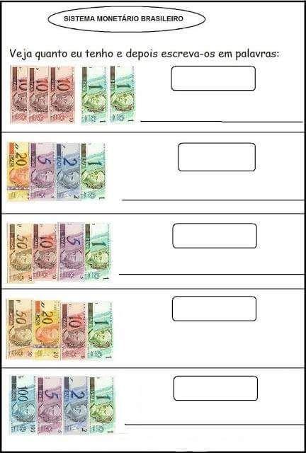 Smile trocando idéias!: Algumas atividades de  Sistema monetário brasileir...