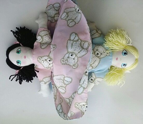 Flip-Flop Topsy-Turvy style dolls Handmade and designed by me.