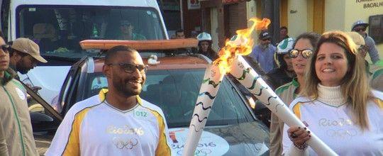 Chama olímpica segue seu passeio pelo Brasil, agora em SC. Siga