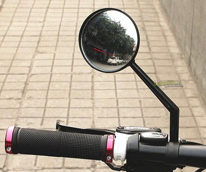 Rotatable Flexible Bicycle Bike Cycling Handlebar End Rearview Back View Mirror Glass Glasses-in Bicycle Handlebar from Sports & Entertainme...