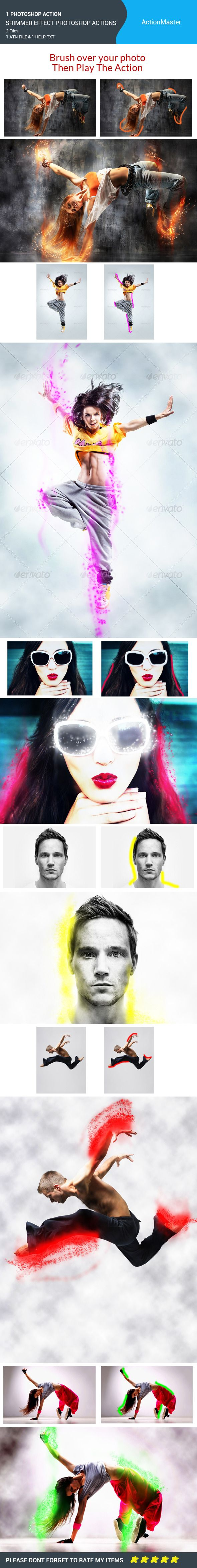 Shimmer Effect Photoshop Actions - Photo Effects Actions