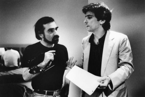 Martin Scorsese and Griffin Dunne on the set of AFTER HOURS, 1985