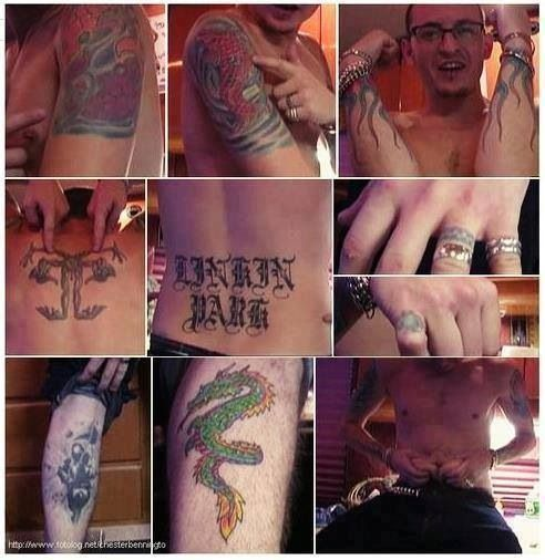 Chester Bennington -  Linkin Park - tattoos