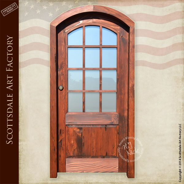Custom french front door with thick tempered glass panels - Exterior glass panel french doors ...