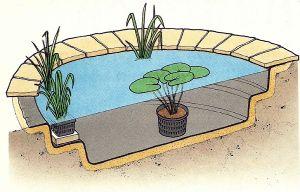 Folienteich mit Teichfolie, erstellen Sie Ihre eigenen Ideen im Garten