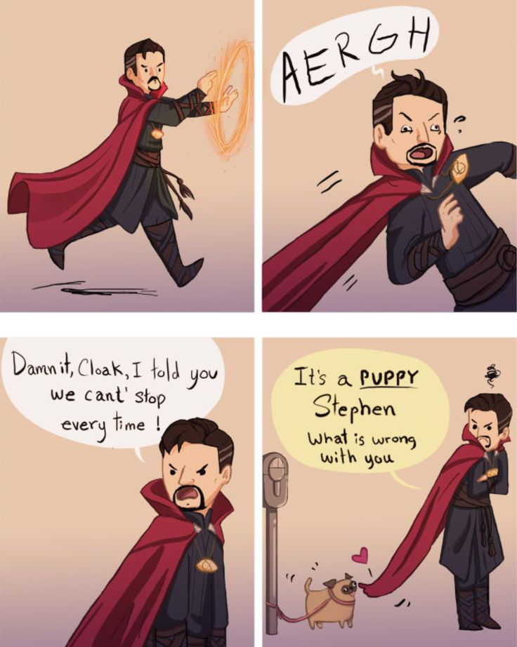 LOL. I took a quiz for which Doctor Strange character am I like and I got the Cloak! Omg. So accurate! (Also please excuse the swearing.)