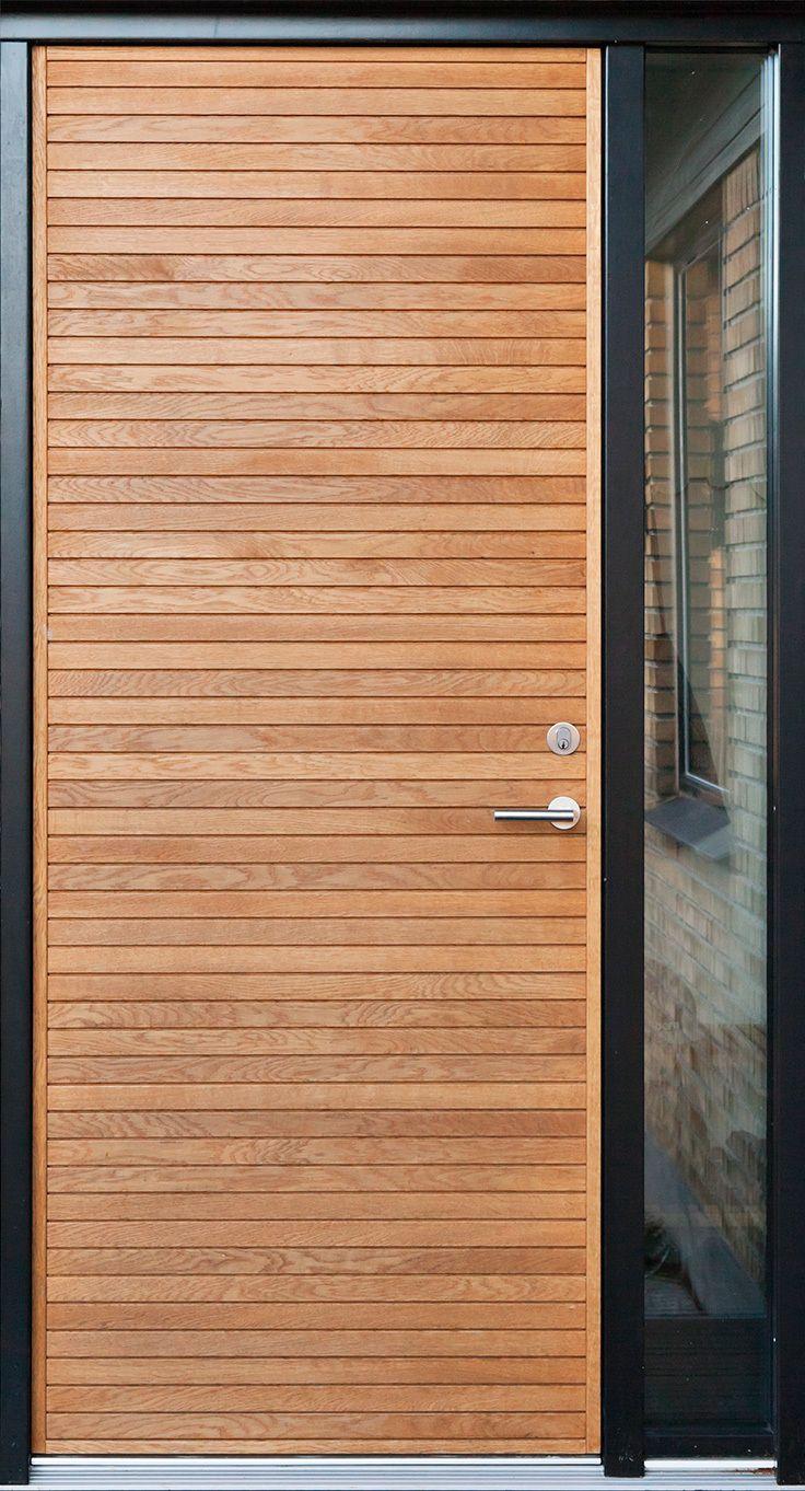 Oak front door with side window. Architectural front door from Je-trae