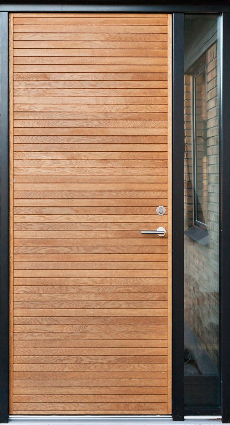 Oak front door with side window. Architectural front door from Je-trae
