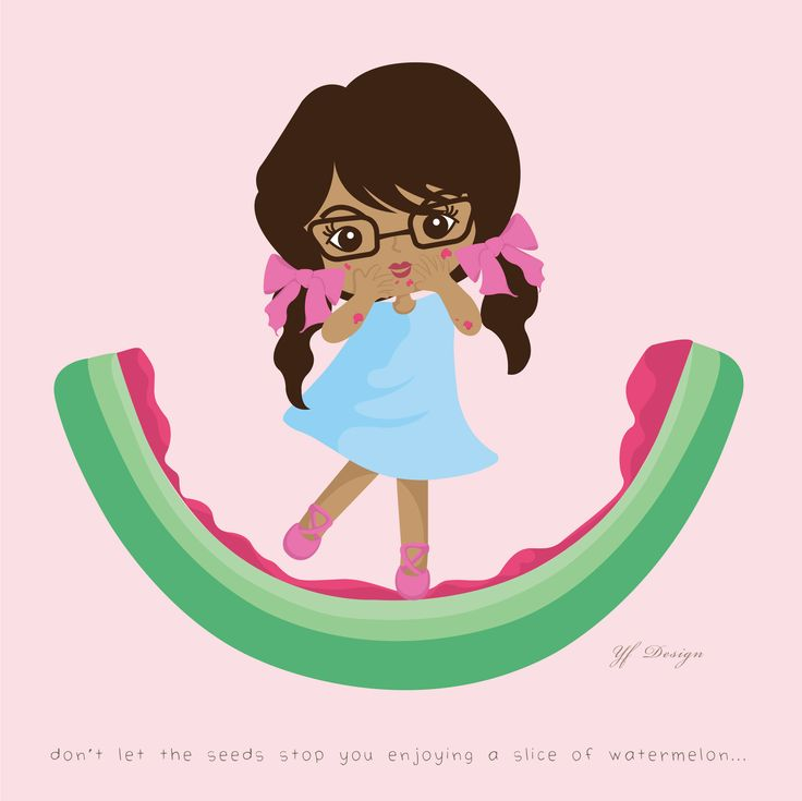 don't let the seeds stop you enjoying a slice of watermelon... -unknown-  illustration & layout design: YF Design ALL WORKS HAVE BEEN COPYRIGHT