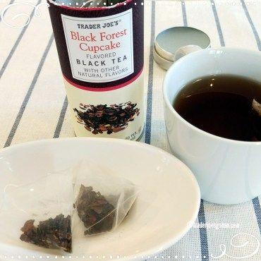 Trader Joe's Black Forest Cupcake Black Tea $3.99 トレジョ ブラックフォレスト ブラックティ #TraderJoes #BlackForest #Tea  #トレジョ #ブラックフォレストケーキ #ティ #紅茶