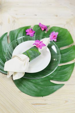 Monstera Leaf Placemat  $6.50/each @save-on-crafts.com