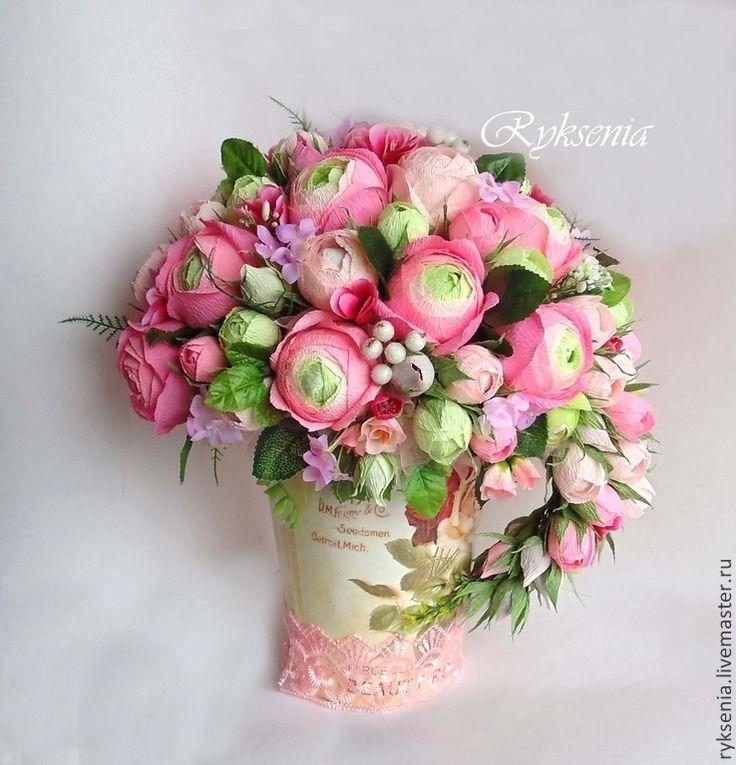 """Купить Букет из конфет """"Английские розы"""" - розовый, букет из конфет, букет, шоколадные конфеты"""