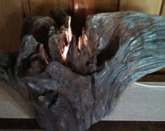 Driftwood Lamp by LakeMade on Etsy