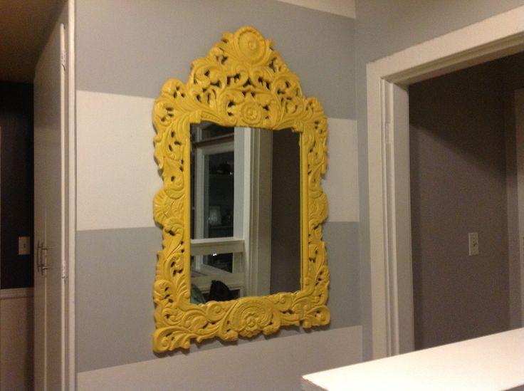 Painted antique mirror.