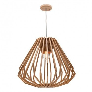 Ashwood Pendant Light New Single That Features Lovely Designed Timber Shade And Black Fabric Cord