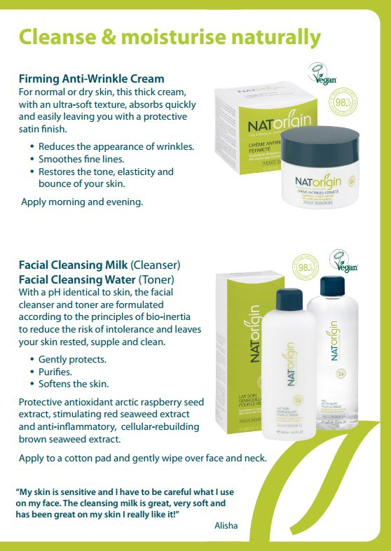 Cleanse & moisturise naturally with NATorigin.