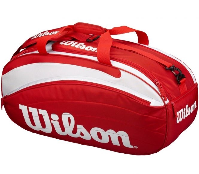 Need somewhere to store your tennis kit? Love this classic Wilson tennis bag. http://www.pricerunner.co.uk/pli/338-568578040/Luggage/Wilson-Wilson-Tennis-bag-VI-Compare-Prices#search=wilson+tour+tennis+backpack&sort=4&q=wilson+tour+tennis+backpack