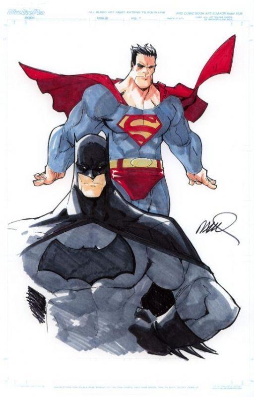 Superman and Batman by Humberto Ramos