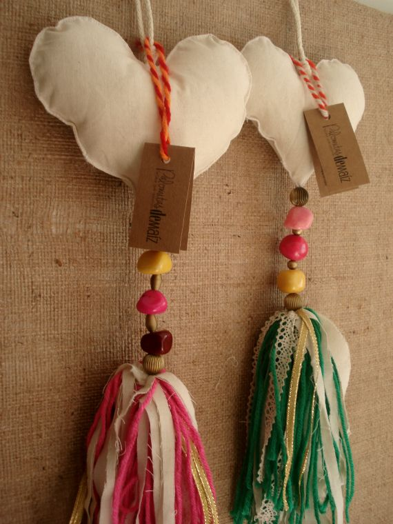 Colgantes de Corazones - Crochet - Tejidos de Punto - 492517