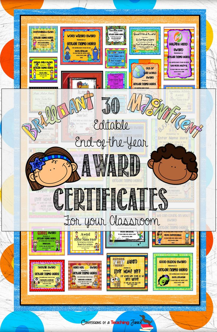 10 best images about end of year certificates on pinterest