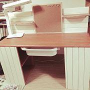 My Desk,カラーボックス,勉強机,DIY,すのこで板壁風,IKEA引き出しに関連する他の写真