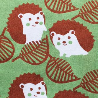 Mussukat Cute Hedgehogs Green