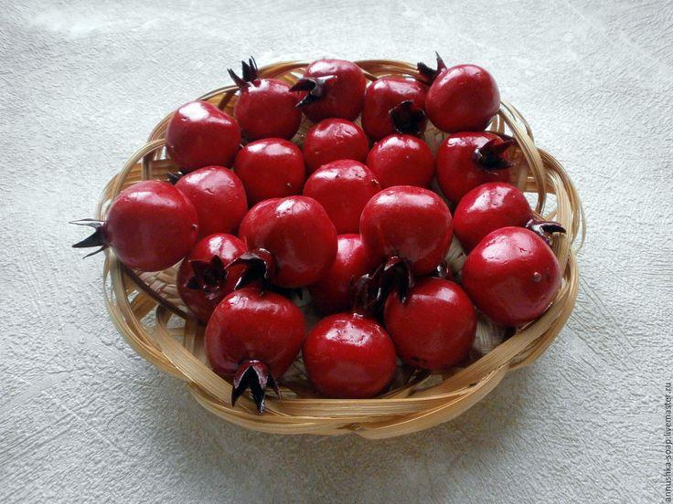 Купить Гранат, 35 мм, топиарий, декор, пенопласт, 10 шт. - фрукты, искусственные фрукты