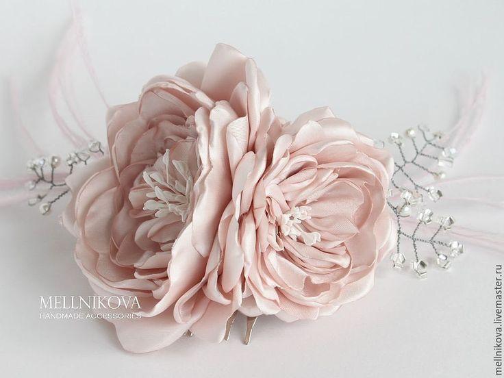 """Купить Украшение для волос """"Ostin"""" - бледно-розовый, свадебные аксессуары, аксессуары для свадьбы, аксессуары на свадьбу"""