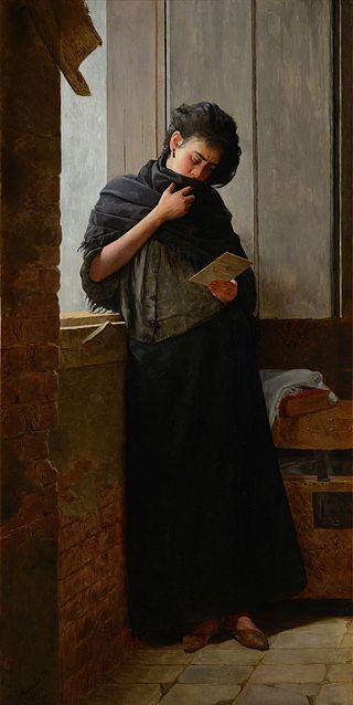 Saudade (1899) - Almeida Júnior                                                                                                                                                                                 Mais
