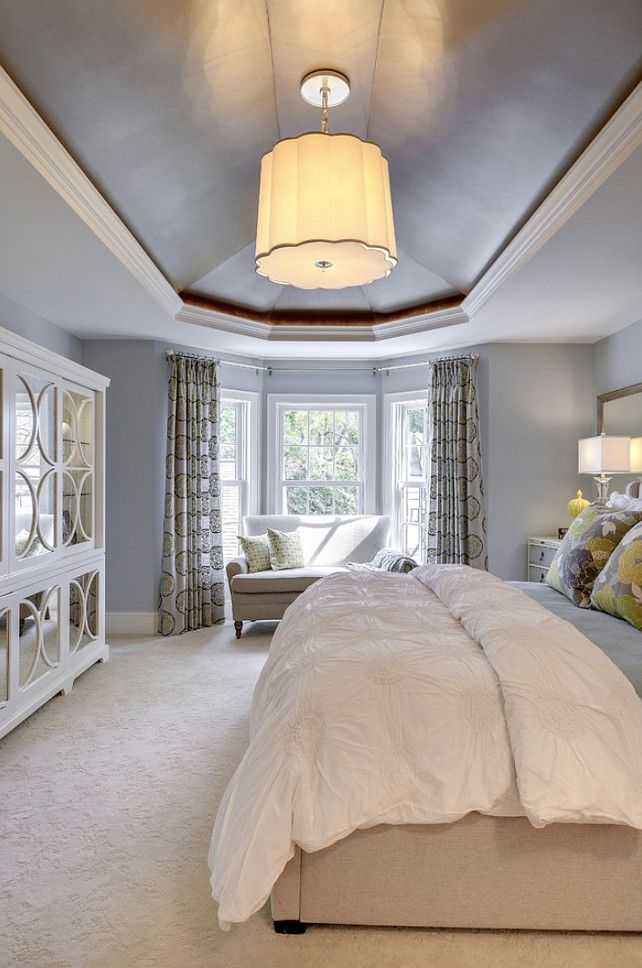 "Bedroom Lighting. This is one of my favorite #Lighting for Bedrooms! Lighting is ""Scallop chandelier by Barbara Barry""."