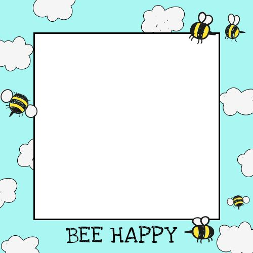 """""""Bee Happy"""" frame for your Selfie #selfmeapp"""