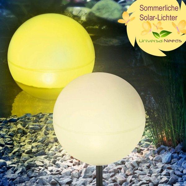 Cute Solar Kugelleuchten cm schwimmf hige Solarkugeln f r Garten und Teich wahlweise in warmwei wei oder gelb