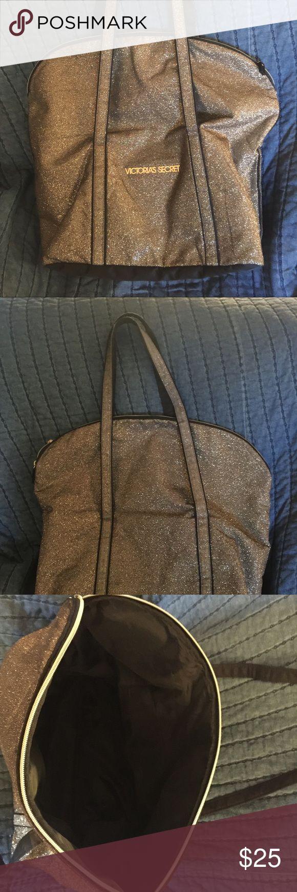 Victoria's secret tote bag gold sparkle tote bag Victoria's Secret Bags Totes