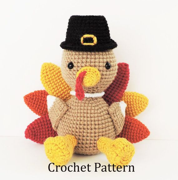 Crochet Turkey Pattern Crochet Thanksgiving by CrochetToPlay