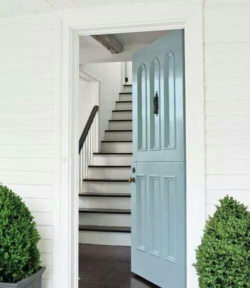 Pretty robins egg blue door
