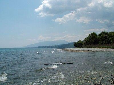 Mountains and sea shore