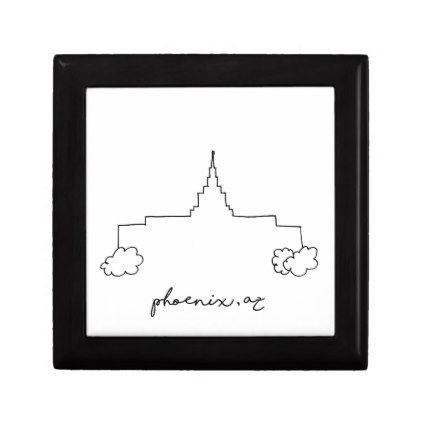 phoenix arizona temple simple modern sketch jewelry box - kids kid child gift idea diy personalize design