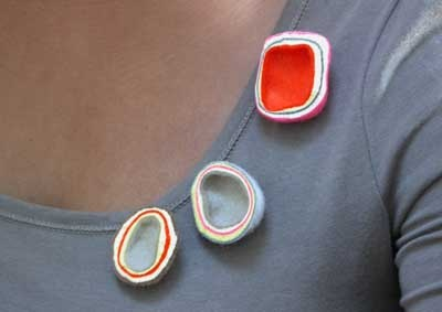 Lso take a look at felt- a beautiful material: Beautiful felt brooches by Brigit Daamen