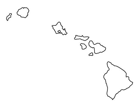 hawaii outline