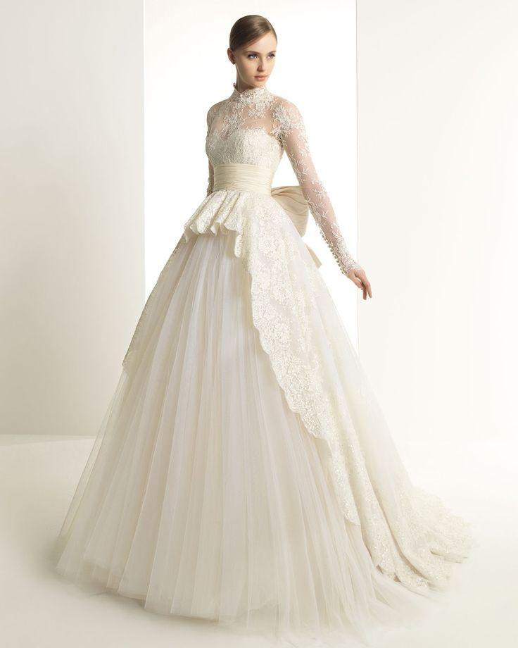 zuhair murad for rosa clara long sleeve wedding gown