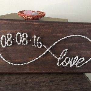 Custom date infinite love string art sign a02a667e116cfd5921974240bdb2ffc0  etsy app artikel