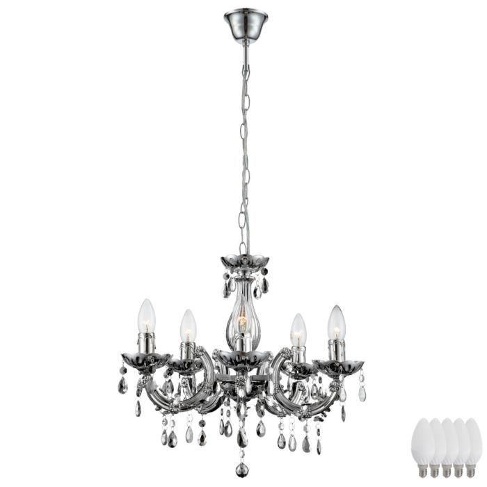 Lampe Cristal Suspension Salon Lustre Éclairage Chrome m0y8wvNnOP
