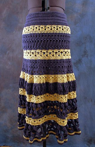Ravelry: Lupe Tiered Maxi Skirt pattern by Josi Hannon Madera $6.00 USD