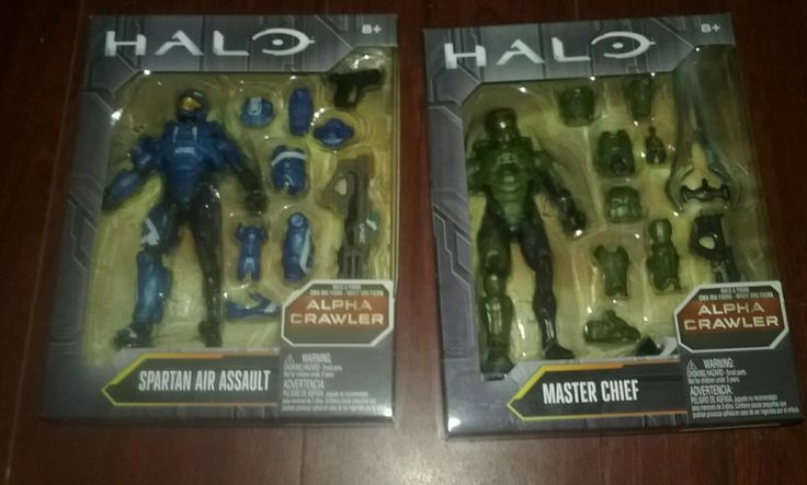 Halo Action Figures six figure Lot Collectible Halo Toys Alpha Crawler #Mattel